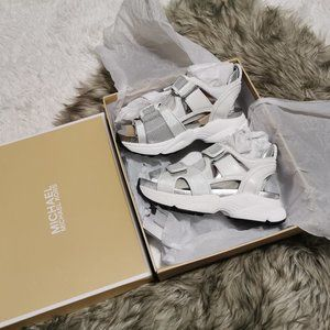 Michael Kors Harvey Platform Sandal Optic White